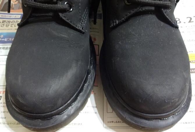 コロニルを使う前の革ブーツ