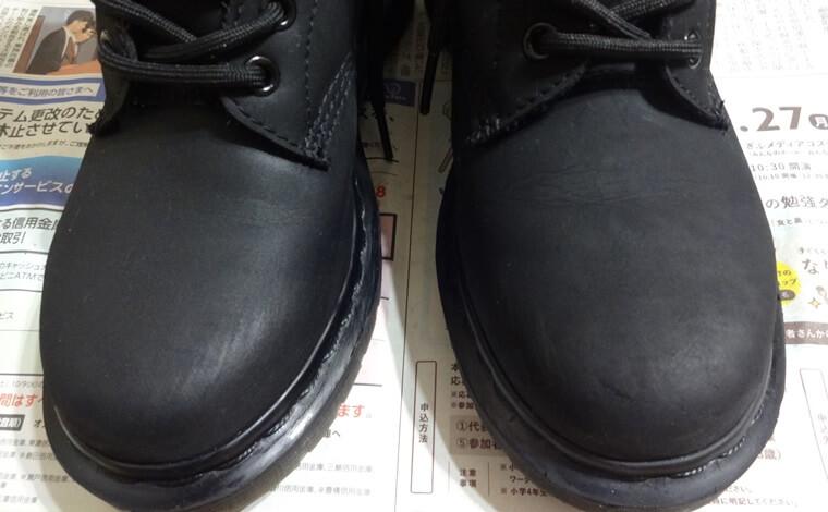 ロニルのオーガニックプロテクト&ケアを使った後の革靴